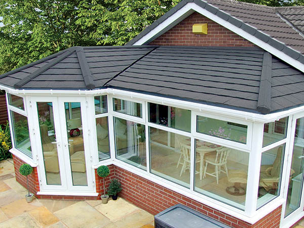 Conservatory with slate roof